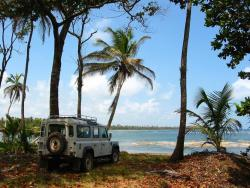 4 HA of Titled Caribbean Beach Front Property with Good road access and Utilities at just 22 USD per m2!