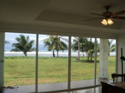 Beach-front house on double lot in Las Lajas Sol y Mar Development