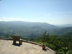 18.7 hectares with superb views, beautiful house and working caf�