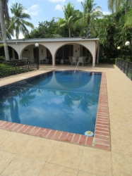 Beautiful ocean view house with large lot, pool and short walk to the beach