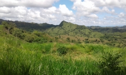 9 hectares with nice river running through the property, water, power, internet, cool climate,titled 45 minutes from Santiago or Chitre