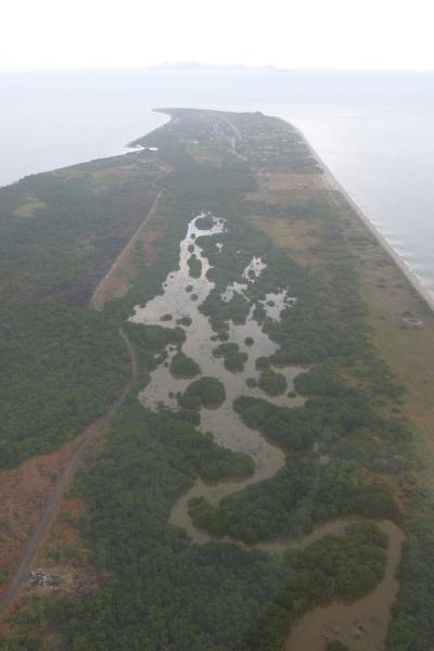 overhead views of the Peninsula of Punta Chame